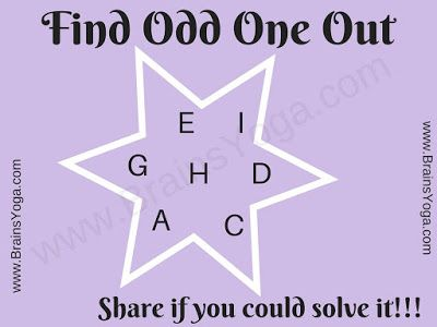 Logical Puzzle To Find Odd Letter Out Word Brain Teasers Brain Teasers Brain Teasers With Answers