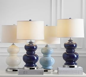 Alexis Table Lamp Base With Usb Port Navy Lighting Lamp Bases
