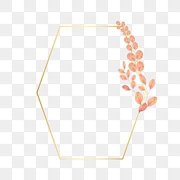 إطارات ذهبية متعددة الأضلاع مع الزهور والأوراق ناقل الصورة نباتي الوردة البرتقالي Png والمتجهات للتحميل مجانا Flower Frame Vintage Frames Leaves Vector