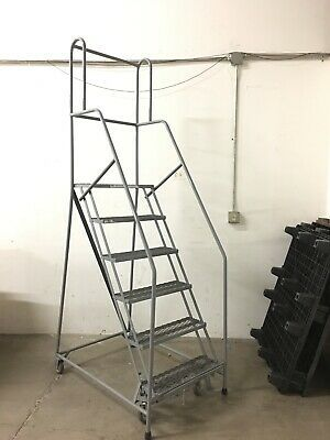 Ad Ebay Url Cotterman 6 Step Rolling Safety Ladder With 10 Top Step In 2020 Safety Ladder Home Decor