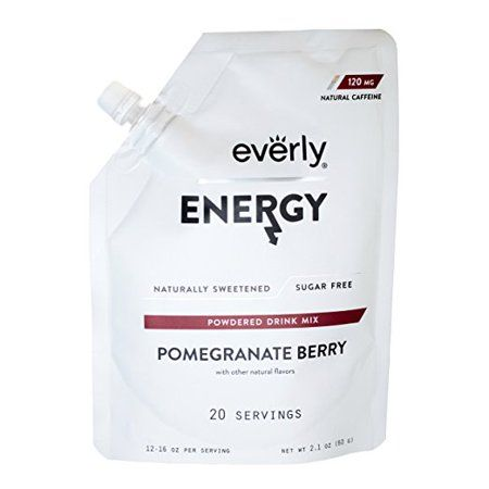 Everly Energy Powdered Drink Mix Pomegranate Berry 20 Servings