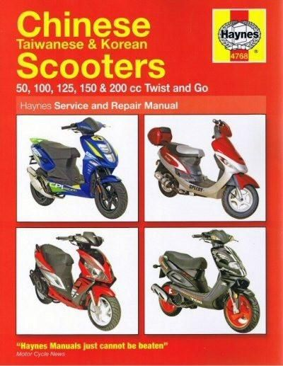 Haynes Scooter Manual 4768 Chinese Taiwanese 50cc 200cc