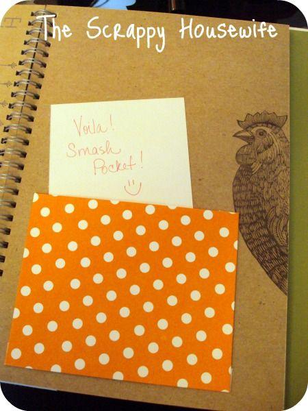 The Scrappy Housewife: Saturday Scraps #2 - DIY Smash Book Pockets