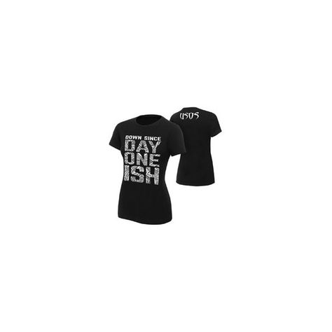 """Official WWE Authentic The Usos /""""Down Since Day One Ish/"""" Women/'s  T-Shirt Black"""