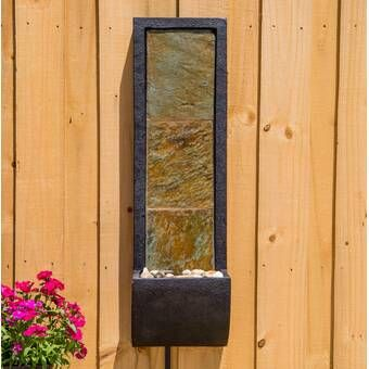 Whispering Creek Acrylic Wall Fountain With Light Wall Fountain Outdoor Wall Fountains Indoor Wall Fountains