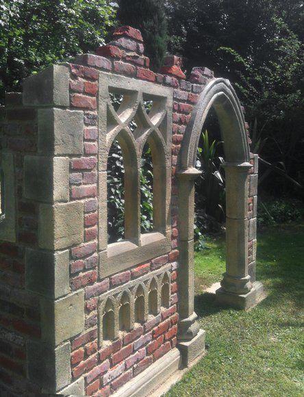 Garten Stein Ruine Aus England Hawkesbury Castle Gotischer Garten Gartenmauern Garten