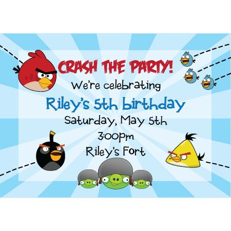 angry birds invation free printable angry birds birthday - birthday invitation card template free download