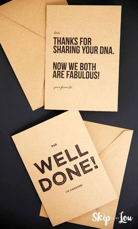 Free Printable Father's Day Cards! These funny cards make the perfect gift idea for dad.