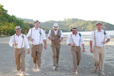 groomsmen attire for boho/country field wedding suspenders and paperboy hats - Google Search