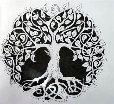 Tattoos Celtic Norse Tree Of Life Coloring And