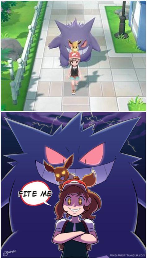 Gengar pokémon lets go eevee pikachu