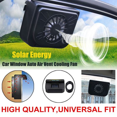 Abs Solar Powered Car Window Windshield Auto Air Vent Cooling Fan