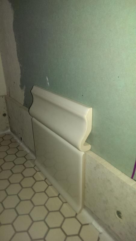 Baseboard Design Ideas Matching Tile Easy To Clean Renovation Pinterest Laundry Rooms And