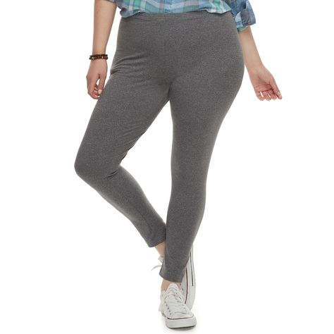 5d464a301c3d7b Juniors' Plus Size SO® Long Leggings, Teens, Size: 2XL, Dark Grey ...