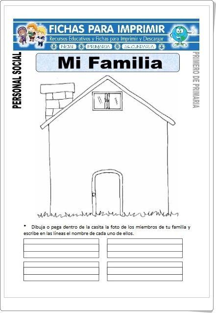 Mi Familia Fichas De Ciencias Sociales De Primaria Material Educativo Primaria Educación De Valores Ciencias Sociales Primaria