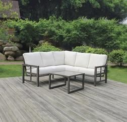 Backyard Creations Glenhaven Collection Sectional Seating Patio Set With Table From M In 2020 Patio Furniture Collection Outdoor Furniture Sets Outdoor Sectional Sofa