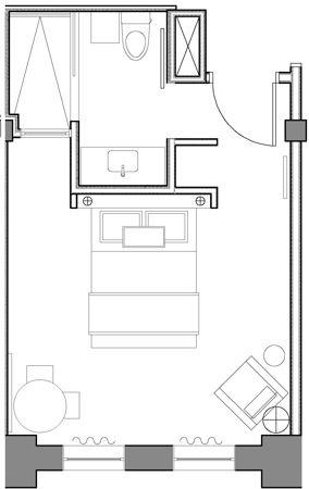 Brooklyn Queen Room Hotel Floor Plan Hotel Room Design Small Hotel Room Bedroom layout ideas app