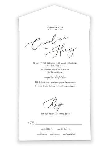 Scripted Wedding Invitation