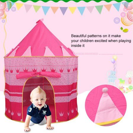 Kiddie Play Pop Up Play Tent for Kids with Zoo Animal Name Cards