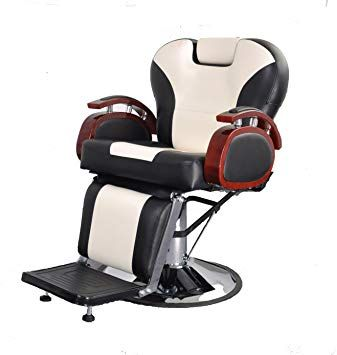 Barberpub Hydraulic Recline Barber Chair Salon Beauty Spa Shampoo Chair 8705 Black Creme White Review Barber Chair Shampoo Chair Beauty Spa