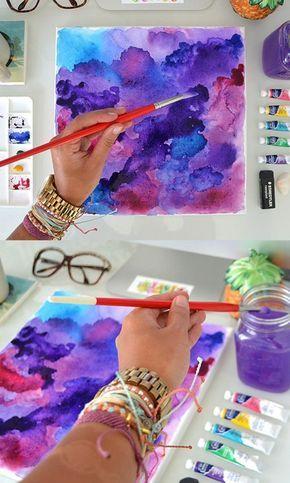 Diy Ideas Para Pintar Con Acuarelas Como Pintar Con Acuarelas