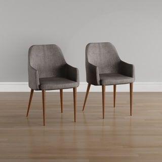 Carson Carrington Pori Mid Century Modern Fabric Dining Chair Set