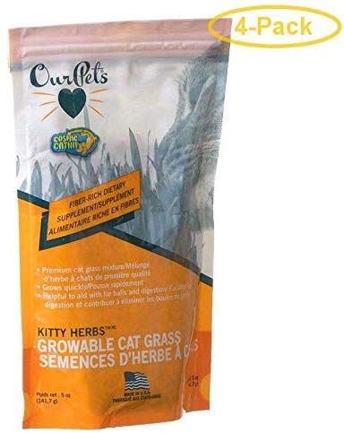 Ourpets Cosmic Catnip Kitty Herbs Growable Cat Treats 5 Oz Pack Of 4 Visit The Image Link More Details This Is An Affiliate Lin Cat Treats Catnip Herbs