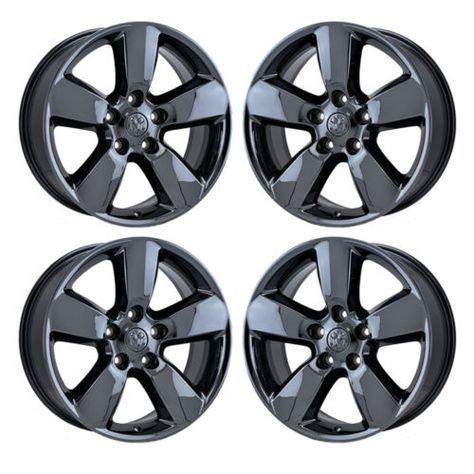 20 034 Dodge Ram 1500 Black Chrome Wheels Rims 2013 2016 Factory Oem 2495 Exchange Black Chrome Wheels Chrome Wheels Ram 1500