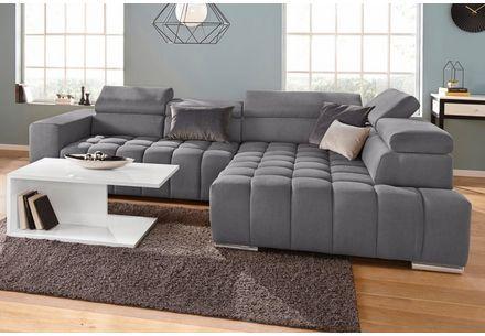 Inosign Ecksofa Ancona Wahlweise Mit Motorischem Sitzvorzug Und Auffalliger Steppung Online Kaufen Otto In 2020 Couch Sectional Couch Furniture