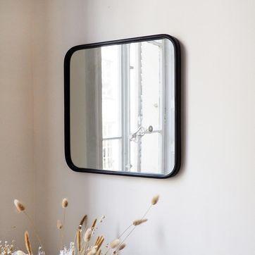 Epingle Par Sanilly25 Sur Projet De Notre Grange Miroir Carre Miroir Metal Noir