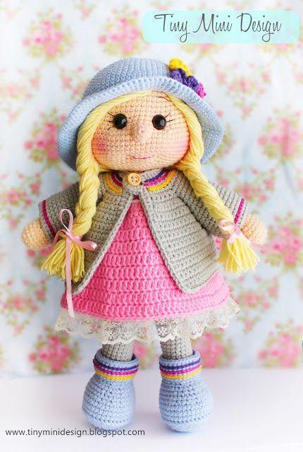 cute doll crochet pattern by sasha koffer (amigurumi tutorial PDF ... | 640x430