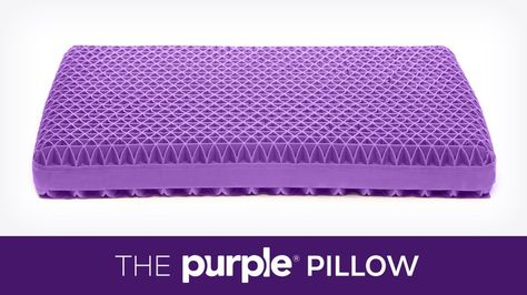Purple® Pillow: The World's First No-Pressure Head Bed by