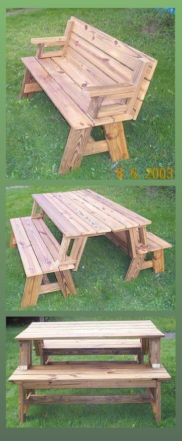 Convertible Picnic Table And Bench Diy Picnic Table Picnic