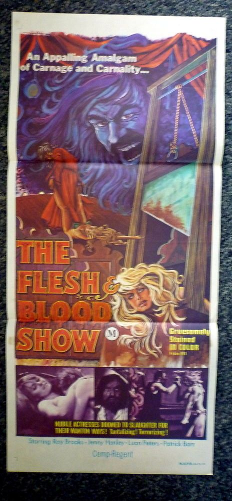 FLESH BLOOD SHOW Rare Original 1970s Australian Daybill
