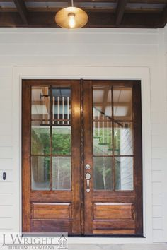 Double Front Doors With Dark Wood And Glass Panels September 12 2019 At 05 27am In 2020 Double Front Doors Glass French Doors Double Front Entry Doors