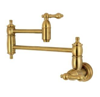 Kingston Brass Ks3107al Restoration 3 8 Gpm Wall Build Com Pot Filler Pot Filler Kitchen Kingston Brass