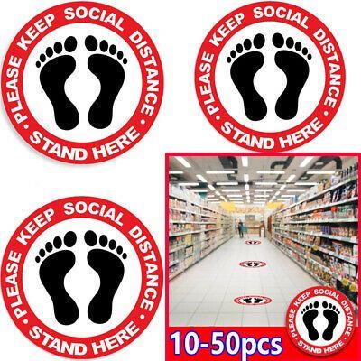 10 50x Social Distancing Floor Sticker Warning Sign Keep Distance Waterproof Ebay In 2020 Floor Stickers Business Signs Floor Decal