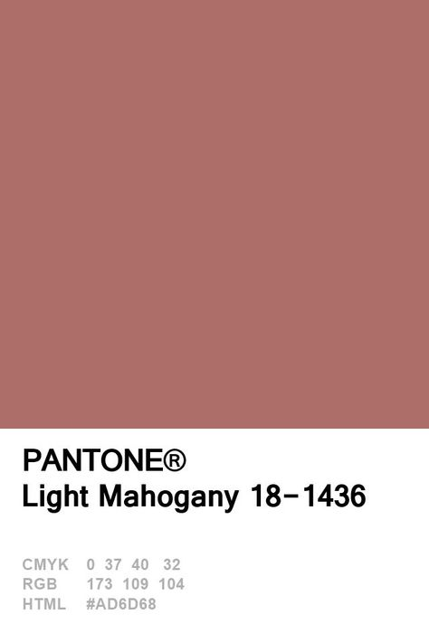 Pantone Light Mahagoni 18-1436 Farbe des Tages 20. Januar