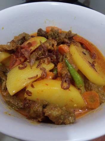Resep Kari Daging Sapi Simpel Oleh Syarifah Ryeeva Al Mahdaly Resep Resep Daging Sapi Resep Daging