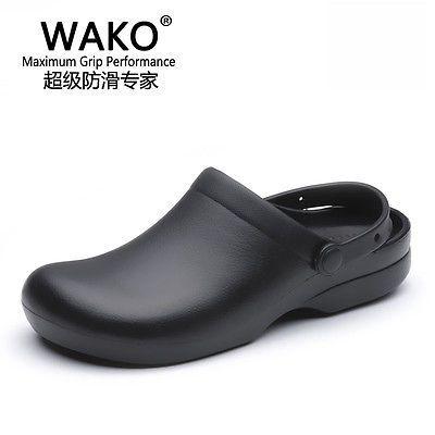 Women Men Chef Shoes Sandal Clogs Safety Kitchen Non-Slip Restaurant Water  Oil a6fefb3c4