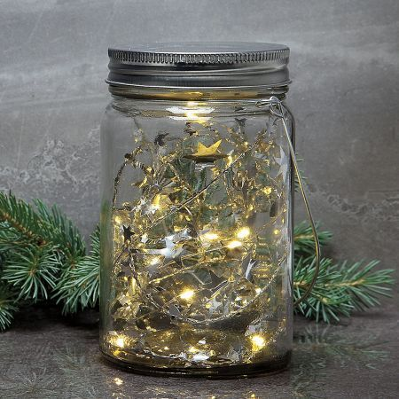 Led Jar With Stars Light Crafts Jar Led Lights