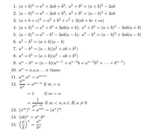 What are formulas in algebra?