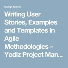 User Stories In Agile Software Development  Career