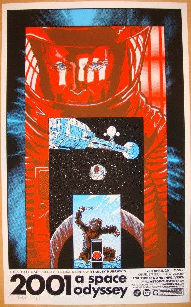 "2011 ""2001 A Space Odyssey"" - Movie Poster by Tim Doyle"