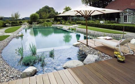 Gartenteich Schwimmteich von TeichMeister Natur Pool 8 Fire - gartenteich anlegen kosten