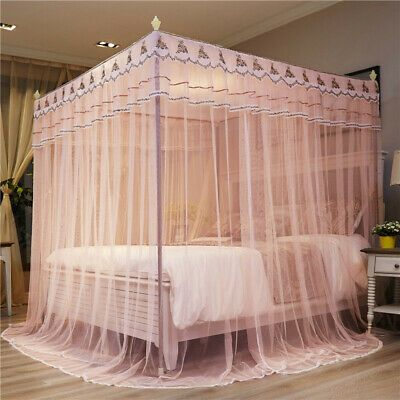 Princess Style Mosquito Net Bed Curtain Netting Canopy Newly Listed With Frames In 2020 Luxe Bedroom Bed Curtains Luxurious Bedrooms