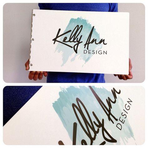 Custom graphic design portfolio book in brushed silver with ...