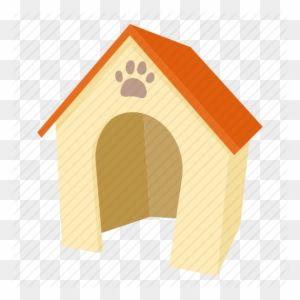 Cartoon Dog Dog House Door Home Kennel Pet Icon Dog House