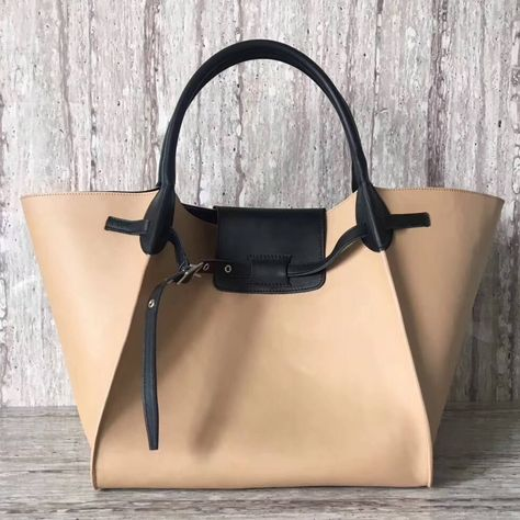 Celine Medium Big Bag in Smooth Calfskin Nude/Black 2018