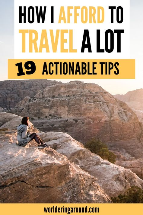 How to afford traveling? I share my best budget travel tips on how to afford to travel more. Find out how to save money for travel, how to find cheap flights and affordable hotels, where to eat on the budget. Tips for full-time employees as well as students. #affordtravel #cheaptravel #budgettravel #traveltips #traveltricks #cheapflights #cheaphotels #travelblogger #travelblog